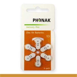 PILHA PHONAK 13 MERCURY FREE