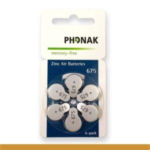 PILHA-PHONAK 675 MERCURY FREE